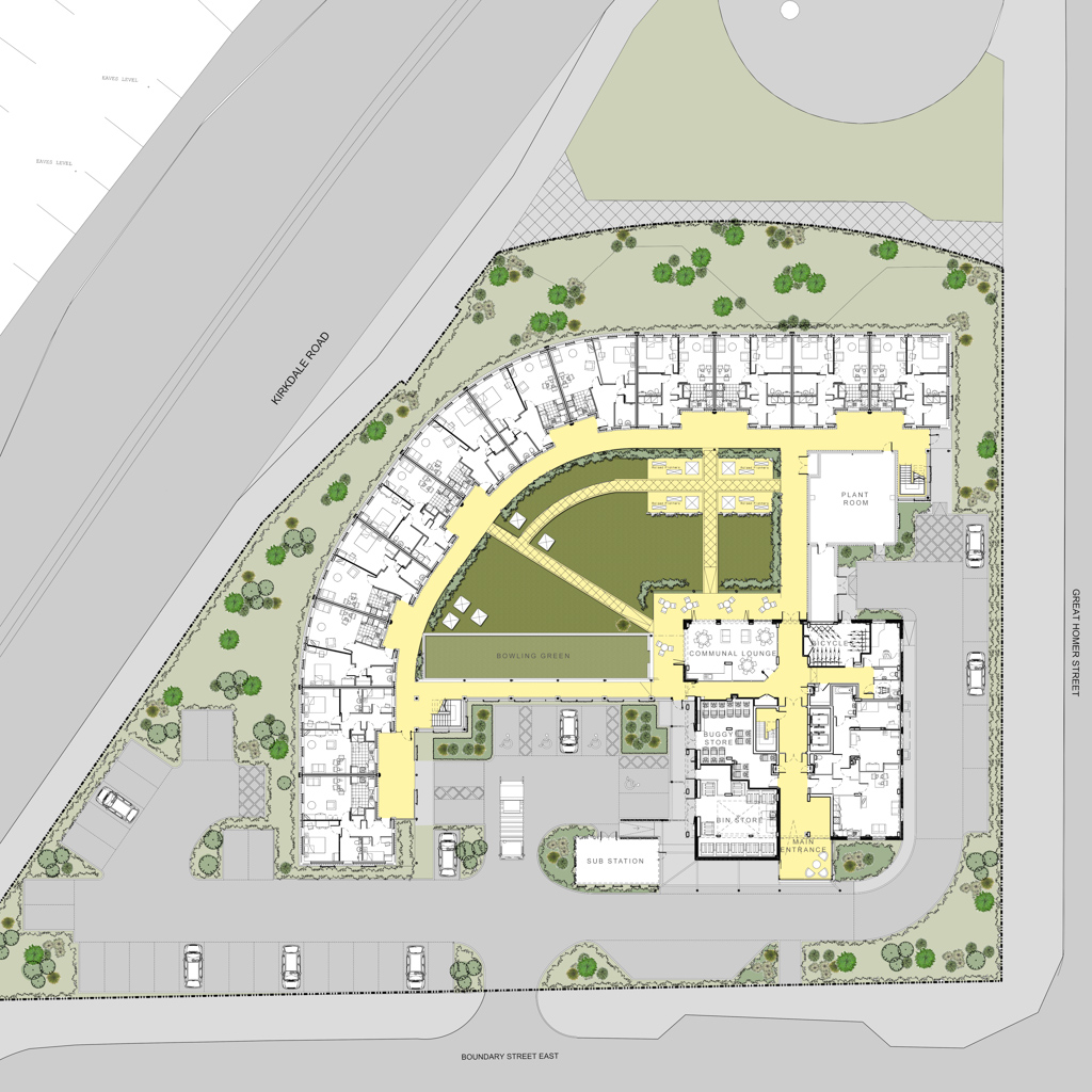 Proposed Site Model for colouring-Site Plan